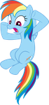 Shocked Rainbow Dash Vector by scrimpeh