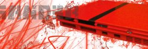 Red Playstation 2 by P3doBear