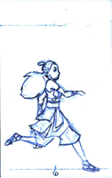 Katara n Sokka Test Animation by Kursunada