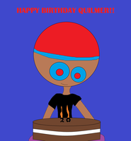 Quilmer's birthday cake by Picture2841