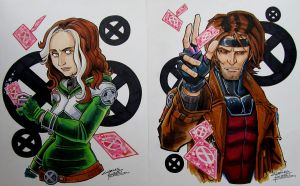 Rogue and Gambit by KidNotorious