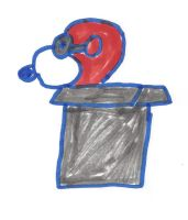 Flying Ace Snoopy in a cardboard box by dth1971