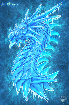 Ice Dragon by amorphisss