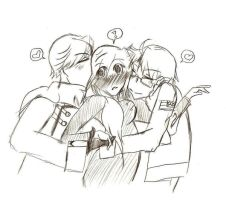 +APH+Group hug by Kirikunai