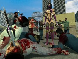 Mileena Vs Zombies by UndeadNinja421