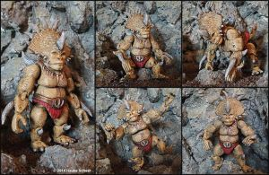 3D printed action figure Steracorilla painted by hauke3000