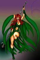 Sylvana the fey witch Coloured by draks