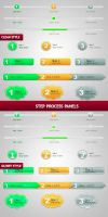 Step Process Panels Sets .PSD by BlueX-Design