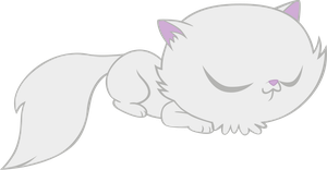 Cat sleeping by M99moron