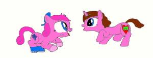 Me playing with Poppet (Pony Version) by poppetrocks278