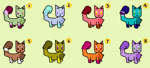 2 POINTS CAT ADOTABLES (OPEN) by Cheschire-is-CUTE