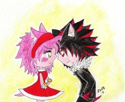 Shadow and Amy by gold-angel-ia