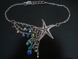 Starfish Beaded Necklace by Ajalee-Jewelry