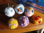 MLP:FIM mini pincushions! by ChelseaHavoc