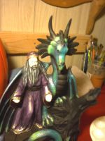 Ceramic Dragon and Wizard WIP by Yamicat