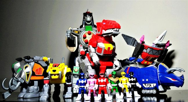 Imaginext MMPR DinoZords Collection!! by ULTIMATEbudokai3