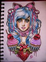 Sugar Girl tattoo design by Frosttattoo