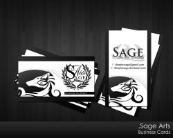 Sage Arts New Business Cards by TheSpinxSage