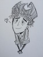 Wilson and his Flower Crown by ZoraSteam
