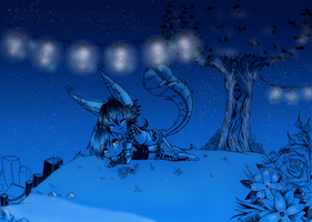 Together in a blue Night by Kisoro
