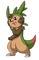 Vence- Chespin OC by DewwyDarts