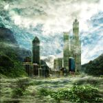 Matte-painting : Jungle city by rodleg