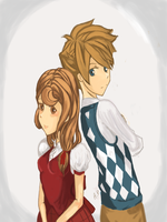 Time Skip: Flora and Clive by applepeachpie