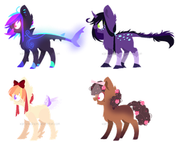 ~Adoptable~ Ponies 74 -- 77 [AUCTION] :CLOSED: by Xanty-Adopts