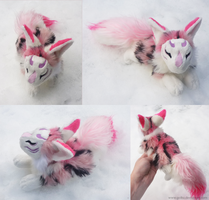 SOLD - Blossom Kitsune spirit by goiku