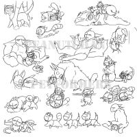 Petformers Cute Things WIPs by peanutchan