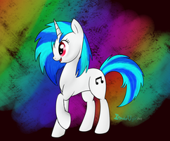 DJ-Pon3 / Vinyl Scratch by MochiFries