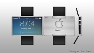 Apple iWatch Concept art design by niels97oet