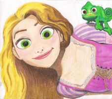 TANGLED - Rapunzel and Pascal by SonjaVanessa