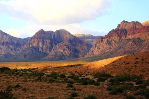 Stock: Rainbow in the Mountains by Celem
