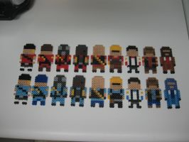 TF2 Perler Red and Blu team by miss-j-bean
