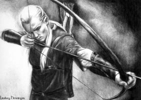 Legolas Shoots His Bow by ElvesAteMyRamen