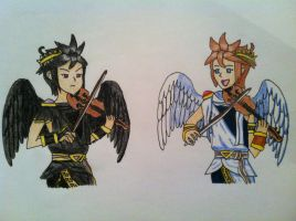 Pit and Dark Pit Violin Lessons by Angel-of-Light-Kelly