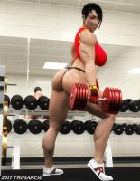 Olga's High-Intensity Workout, stage two by Soviet-Superwoman