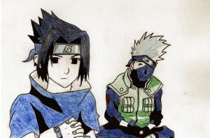 Sasuke and Kakashi by HaanaArt
