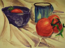 Watercolor Study - Tomatoes by new-moon-night