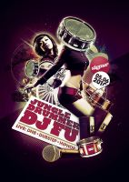 jungle drummer vs dj fu flyer by south