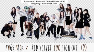 [PNG PACK] Red Velvet for High Cut (with Taemin) by babyjung2