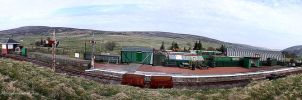 Panorama Leadhills Station by printsILike