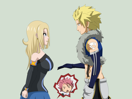 Sting,Kami and Natsu (fake scs png) by firelio