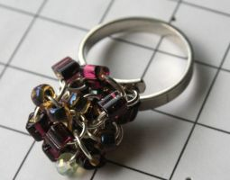 Purple Glass Cocktail Ring by MoreThanNothing