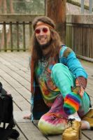 Hippie sitting by Dominik19