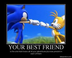 Sonic and tails Desmotivational Poster by raflynnzel