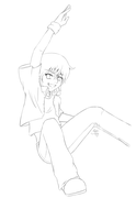 Jump - Lineart by sassie-kay