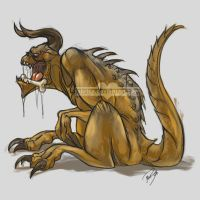 Pet Deathclaw by TwoToneFools