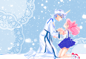 Chibiusa and Helios by LovelessAndWaiting
